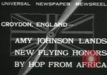 Image of Aviator Amy Johnson Croydon London England United Kingdom, 1932, second 1 stock footage video 65675068201