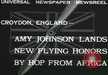 Image of Aviator Amy Johnson Croydon London England United Kingdom, 1932, second 2 stock footage video 65675068201