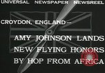 Image of Aviator Amy Johnson Croydon London England United Kingdom, 1932, second 3 stock footage video 65675068201