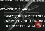 Image of Aviator Amy Johnson Croydon London England United Kingdom, 1932, second 6 stock footage video 65675068201