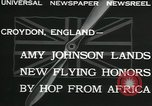Image of Aviator Amy Johnson Croydon London England United Kingdom, 1932, second 7 stock footage video 65675068201
