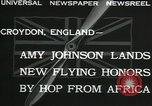 Image of Aviator Amy Johnson Croydon London England United Kingdom, 1932, second 8 stock footage video 65675068201