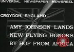 Image of Aviator Amy Johnson Croydon London England United Kingdom, 1932, second 10 stock footage video 65675068201