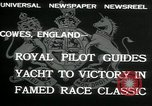 Image of Regatta Cowes England, 1932, second 10 stock footage video 65675068206