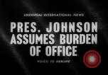 Image of Lyndon B Johnson United States USA, 1963, second 1 stock footage video 65675068208
