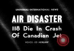Image of Canadian jet crashes Montreal Quebec Canada, 1963, second 1 stock footage video 65675068209
