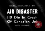 Image of Canadian jet crashes Montreal Quebec Canada, 1963, second 2 stock footage video 65675068209