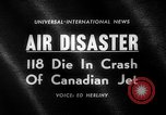 Image of Canadian jet crashes Montreal Quebec Canada, 1963, second 5 stock footage video 65675068209