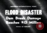 Image of flood disaster Los Angeles California USA, 1963, second 1 stock footage video 65675068214