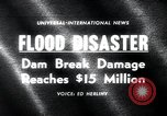 Image of flood disaster Los Angeles California USA, 1963, second 2 stock footage video 65675068214