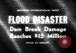 Image of flood disaster Los Angeles California USA, 1963, second 4 stock footage video 65675068214