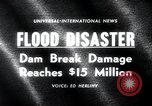 Image of flood disaster Los Angeles California USA, 1963, second 5 stock footage video 65675068214