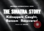 Image of Frank Sinatra Jr kidnapping Canoga Park Los Angeles, 1963, second 1 stock footage video 65675068215