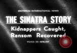 Image of Frank Sinatra Jr kidnapping Canoga Park Los Angeles, 1963, second 4 stock footage video 65675068215