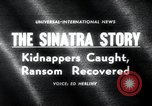 Image of Frank Sinatra Jr kidnapping Canoga Park Los Angeles, 1963, second 5 stock footage video 65675068215