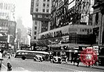 Image of Times Square neon signs and theaters New York United States USA, 1939, second 12 stock footage video 65675068263