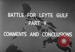 Image of Battle of Leyte Gulf Pacific Ocean, 1945, second 3 stock footage video 65675068320