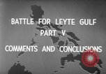 Image of Battle of Leyte Gulf Pacific Ocean, 1945, second 5 stock footage video 65675068320