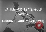 Image of Battle of Leyte Gulf Pacific Ocean, 1945, second 6 stock footage video 65675068320