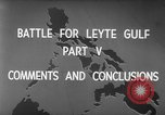 Image of Battle of Leyte Gulf Pacific Ocean, 1945, second 8 stock footage video 65675068320