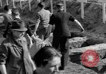 Image of Burial of Wöbbelin Concentration Camp victims Ludwigslust Germany, 1945, second 7 stock footage video 65675068332