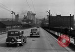 Image of 1940s automobiles on Market Street Bridge Youngstown Ohio USA, 1946, second 5 stock footage video 65675068413
