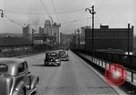 Image of 1940s automobiles on Market Street Bridge Youngstown Ohio USA, 1946, second 8 stock footage video 65675068413