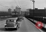 Image of 1940s automobiles on Market Street Bridge Youngstown Ohio USA, 1946, second 9 stock footage video 65675068413