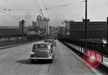 Image of 1940s automobiles on Market Street Bridge Youngstown Ohio USA, 1946, second 10 stock footage video 65675068413