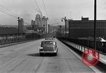 Image of 1940s automobiles on Market Street Bridge Youngstown Ohio USA, 1946, second 11 stock footage video 65675068413