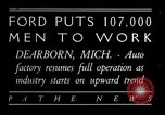 Image of Ford auto factory Dearborn Michigan USA, 1931, second 1 stock footage video 65675068469