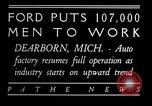 Image of Ford auto factory Dearborn Michigan USA, 1931, second 8 stock footage video 65675068469