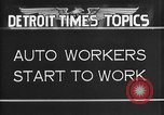 Image of Ford auto factory Dearborn Michigan USA, 1931, second 6 stock footage video 65675068470