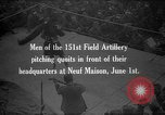 Image of Soldiers of 151st Field Artillery Regiment pitch quoits Neuf Maison France, 1918, second 1 stock footage video 65675068481