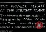 Image of Wilbur Wright Le Mans France, 1908, second 1 stock footage video 65675068543