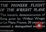 Image of Wilbur Wright Le Mans France, 1908, second 4 stock footage video 65675068543