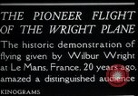 Image of Wilbur Wright Le Mans France, 1908, second 5 stock footage video 65675068543