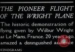 Image of Wilbur Wright Le Mans France, 1908, second 8 stock footage video 65675068543