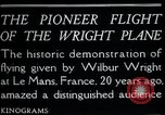 Image of Wilbur Wright Le Mans France, 1908, second 9 stock footage video 65675068543