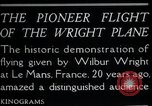 Image of Wilbur Wright Le Mans France, 1908, second 10 stock footage video 65675068543