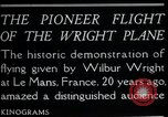 Image of Wilbur Wright Le Mans France, 1908, second 12 stock footage video 65675068543