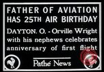 Image of Orville Wright Dayton Ohio USA, 1928, second 1 stock footage video 65675068548