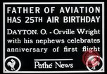 Image of Orville Wright Dayton Ohio USA, 1928, second 2 stock footage video 65675068548