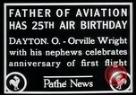 Image of Orville Wright Dayton Ohio USA, 1928, second 3 stock footage video 65675068548