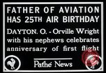 Image of Orville Wright Dayton Ohio USA, 1928, second 4 stock footage video 65675068548