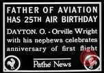 Image of Orville Wright Dayton Ohio USA, 1928, second 5 stock footage video 65675068548