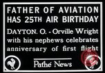 Image of Orville Wright Dayton Ohio USA, 1928, second 6 stock footage video 65675068548