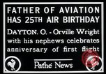 Image of Orville Wright Dayton Ohio USA, 1928, second 7 stock footage video 65675068548