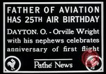 Image of Orville Wright Dayton Ohio USA, 1928, second 8 stock footage video 65675068548