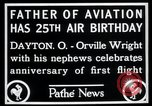 Image of Orville Wright Dayton Ohio USA, 1928, second 9 stock footage video 65675068548
